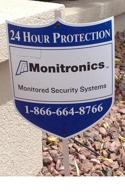 Monitronics Home Security Yard Sign