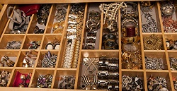 Wiring for a motion detector - jewelry drawer