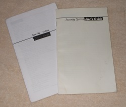 Burglar alarm manuals for Radionics D6112 and D2212 systems