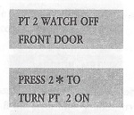Radionics D2212 User Manual Page Displaying Watch Point Setup