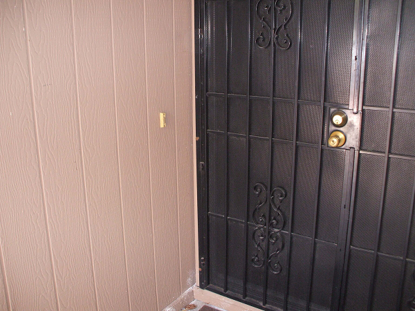 Proposed Ring Video Doorbell installation location