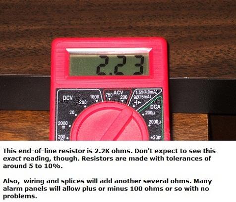 End-of-line resistor measurement