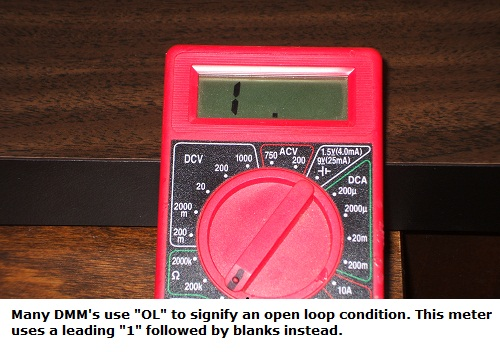 Measuring an open loop conditio