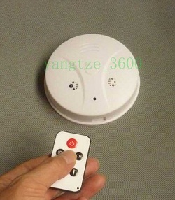 Smoke Detector with Built-in DVR Security Camera System