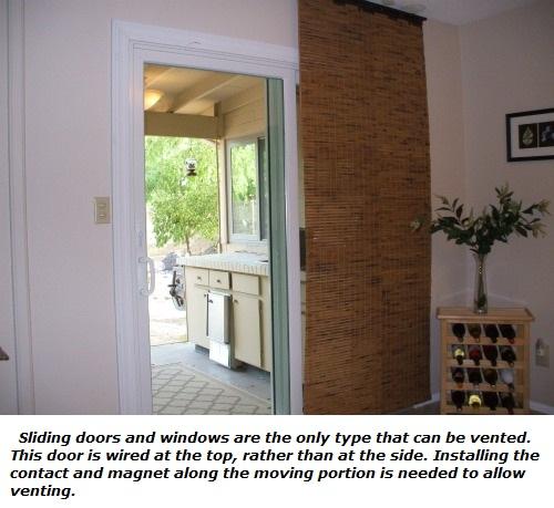 Adding vent zone to sliding door
