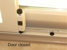 Foot bolt energy efficient sliding door