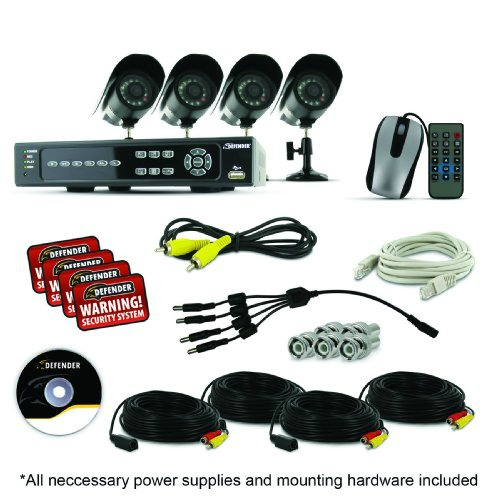Video Security Camera System With 4 Channels