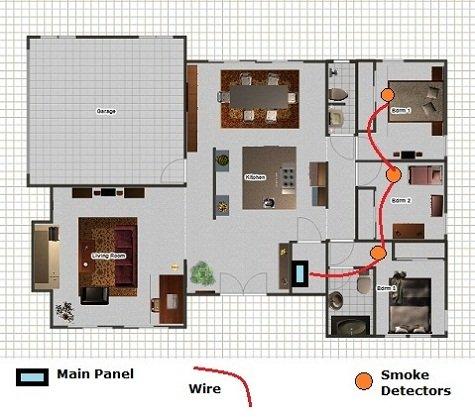 Smoke detector wiring basic