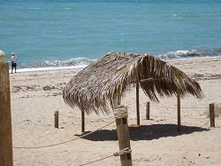 Palapa on the beach in Mexico