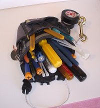 Electrician Tool Pouch with Belt Clip