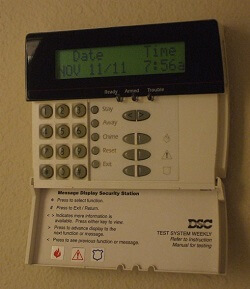 My alarm keeps beeping - Alarm system keypads for trouble display