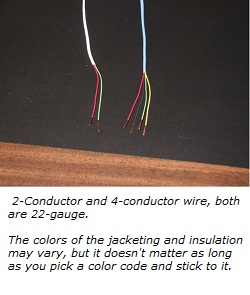 2- and 4-Conductor alarm system wiring