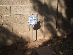 Brinks security yard sign