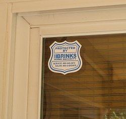 Brink window sticker