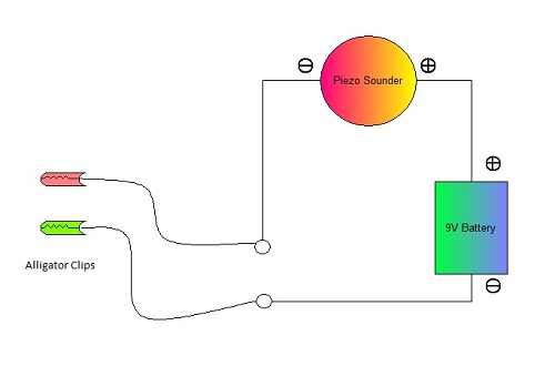 Diagram of a Continuity Tester Circuit