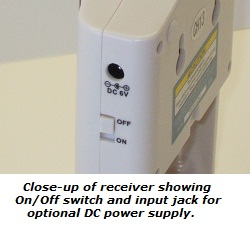 Optional power supply is 6-volt, 200mA