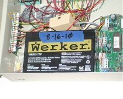DSC 832 alarm system battery replacement
