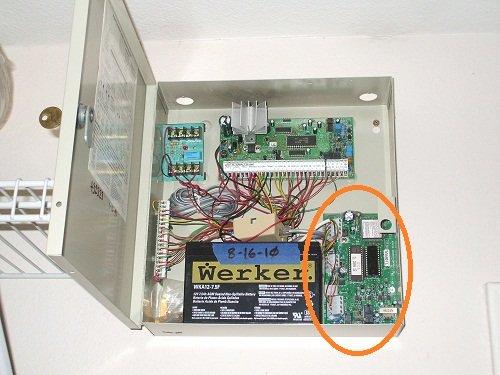 DSC Power 832 with Escort 5580TC module installed
