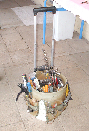 Bucket Boss Tool Organizer and Wheeled Cart Attachment