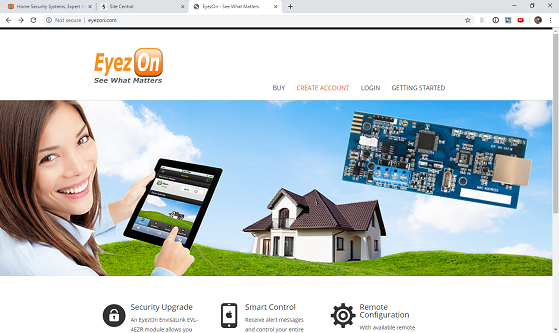 Eyezon.com Home Page