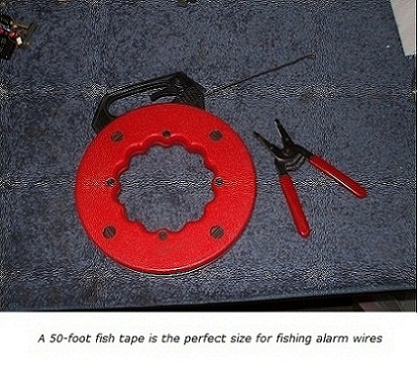 How to use a fish tape for home alarm wiring