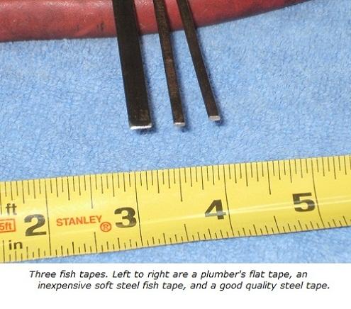Plumbers fish tape, cheap steel tape, high-quality steel fish tape