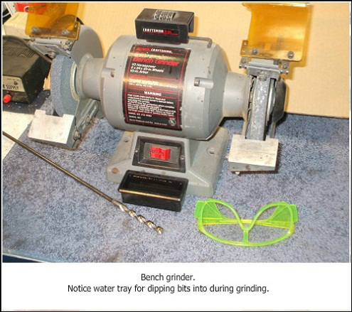 Drill bit sharpener grinder