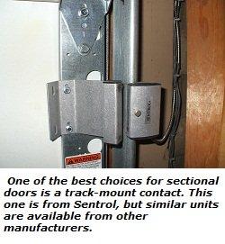 Sentrol garage door sensor - track-mount