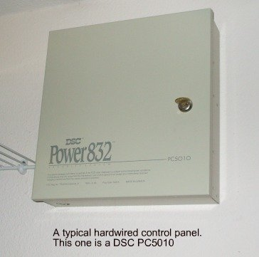 Hardwired home security system DSC 832
