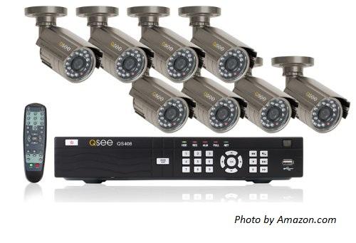 DVR Surveillance camera system with 8 cameras