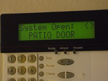 Home security system DSC keypad