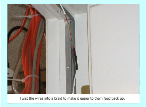 Wiring magnetic switches, twisting wires into a braid