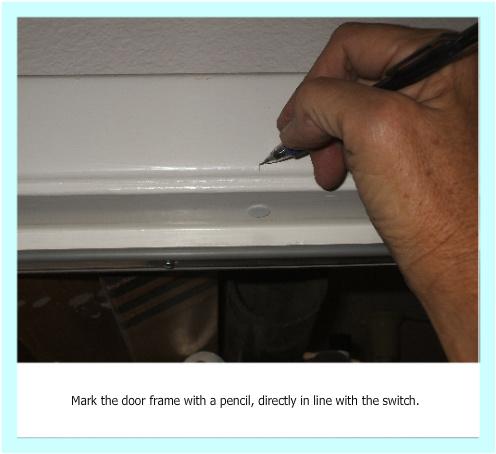 DIY magnetic switch, marking door frame