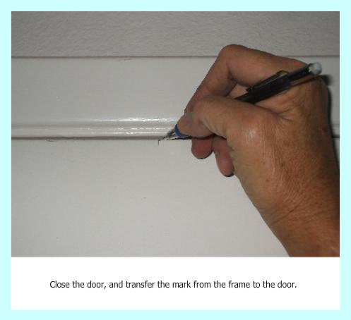 Transfer mark to door for magnet
