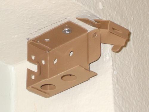 Mini-blind bracket in open position