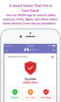 MONI Smart Security Phone App