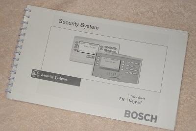 Radionics alarm manual for D1260 keypads