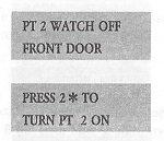 Radionics D2212 User Manual Page Displaying Watch Point Setup