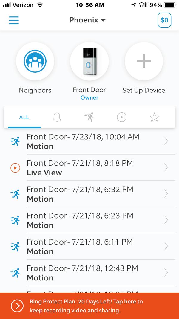 Ring  Always Home App screenshot