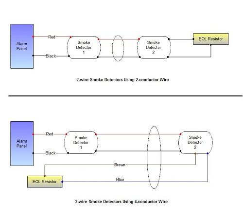 Smoke alarm circuit diagram 2-wire smoke detectors