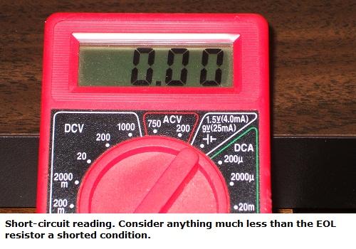 Metering a short-circuit