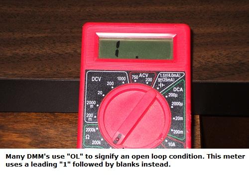 Measuring an open loop conditio