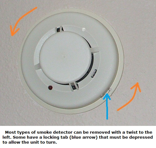 Smoke alarm wiring - Removing a smoke detector